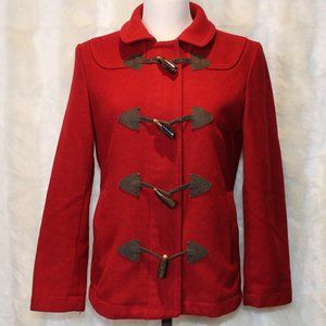 GAP Red Wool Blend Toggle Zip Coat Jacket